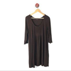 Eileen Fisher XL dress brown 3/4 sleeves brown